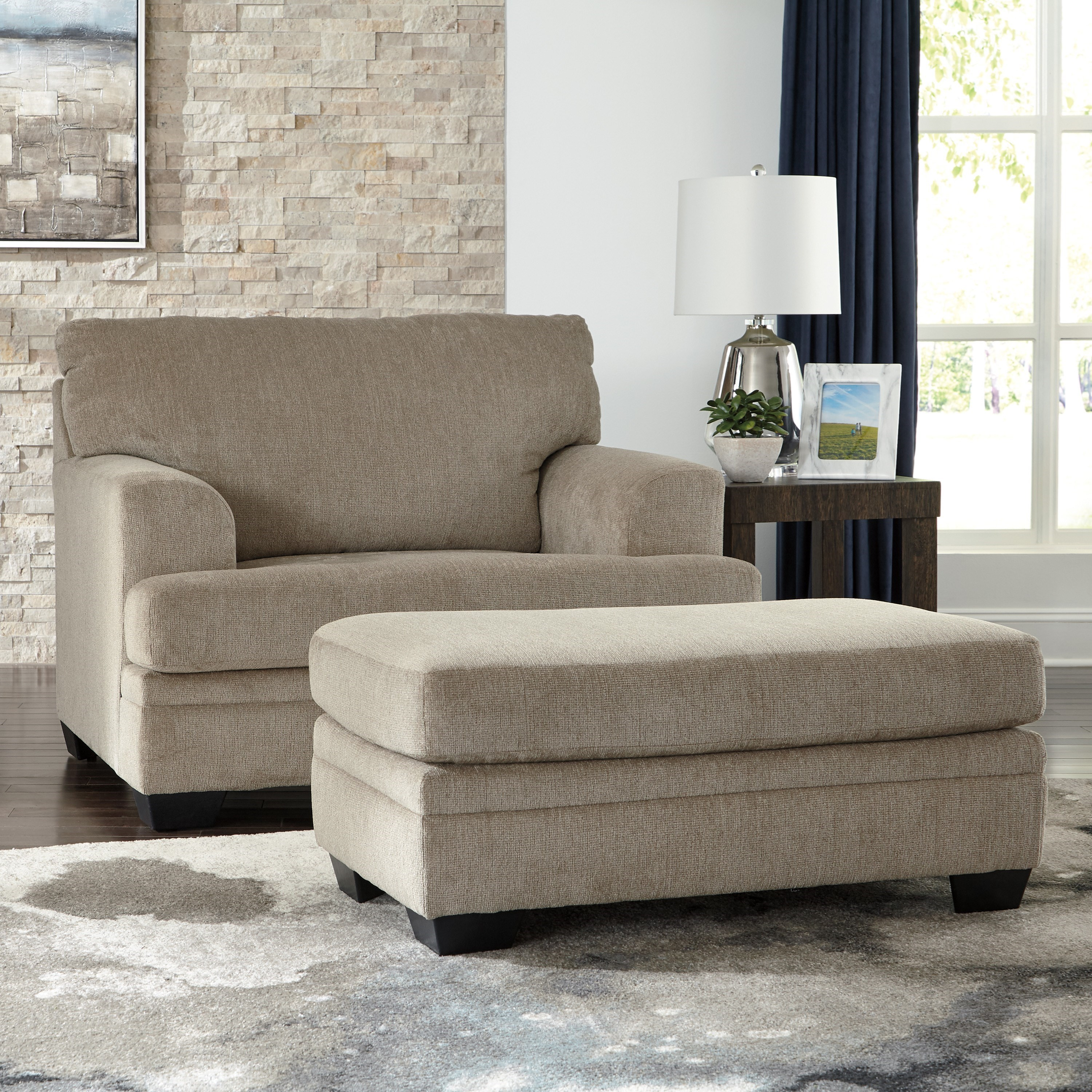 Dorsten Chair and a Half with Ottoman by Signature Design by Ashley at Zak's Warehouse Clearance Center