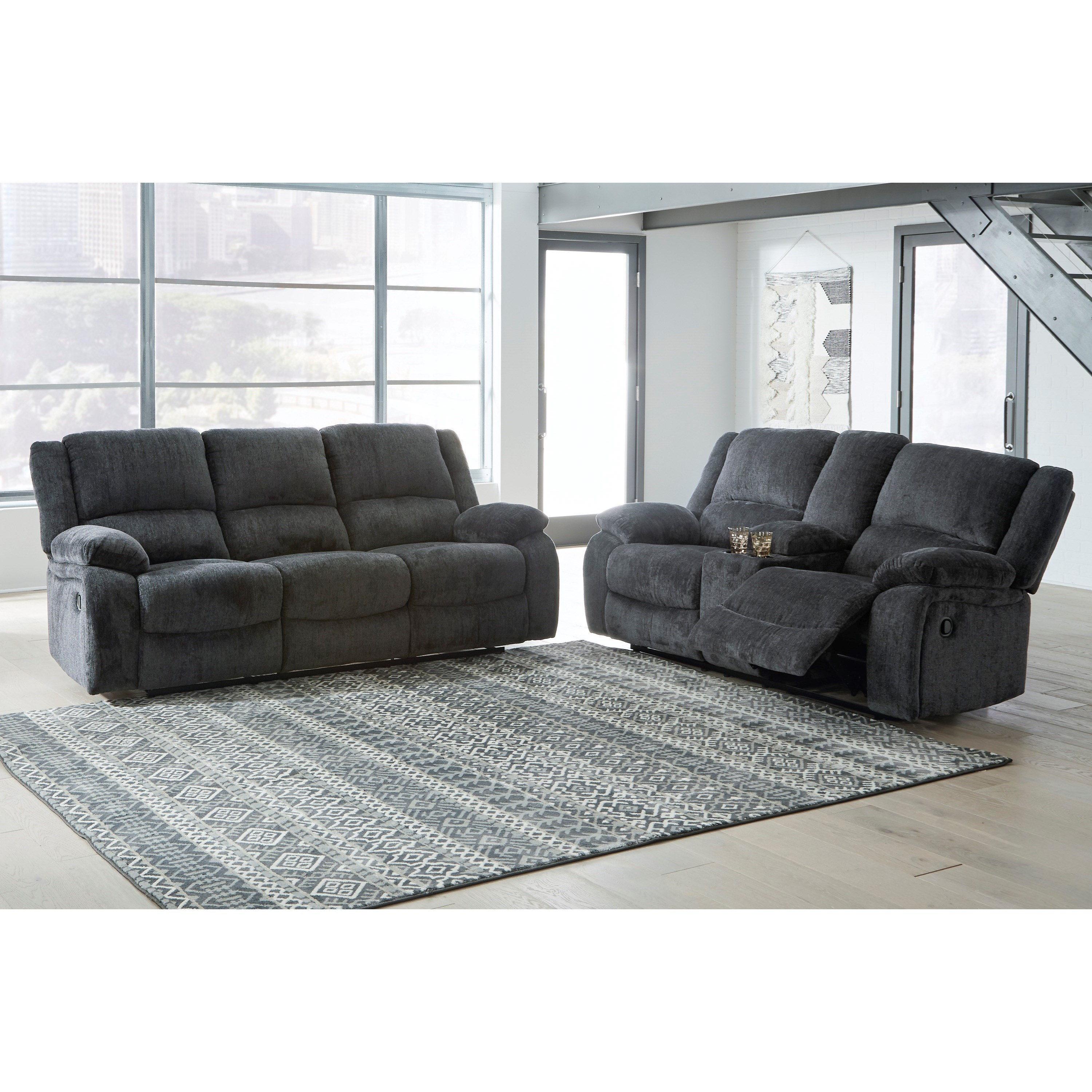 Draycoll Reclining Living Room Group by Benchcraft at Virginia Furniture Market