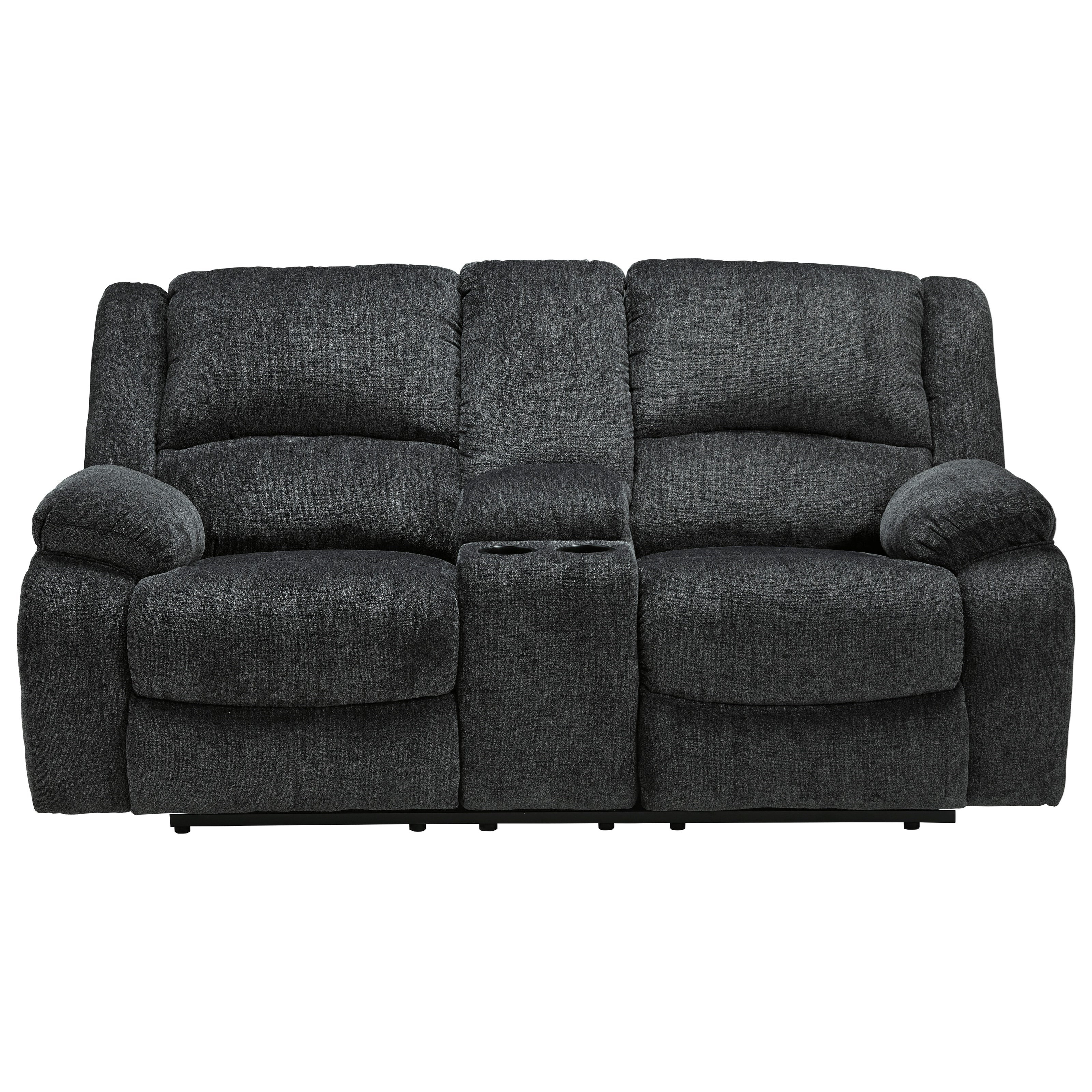 Draycoll Double Reclining Power Loveseat w/ Console by Ashley (Signature Design) at Johnny Janosik