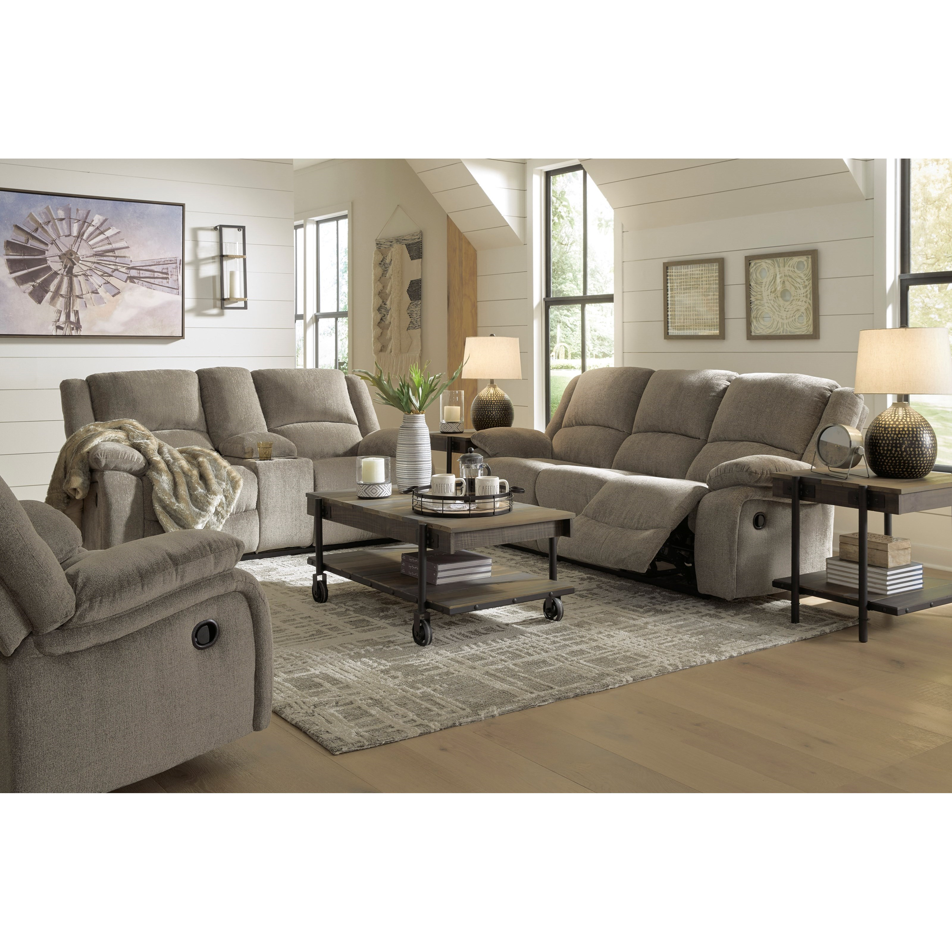 Draycoll Reclining Living Room Group by Signature Design by Ashley at Sam Levitz Outlet
