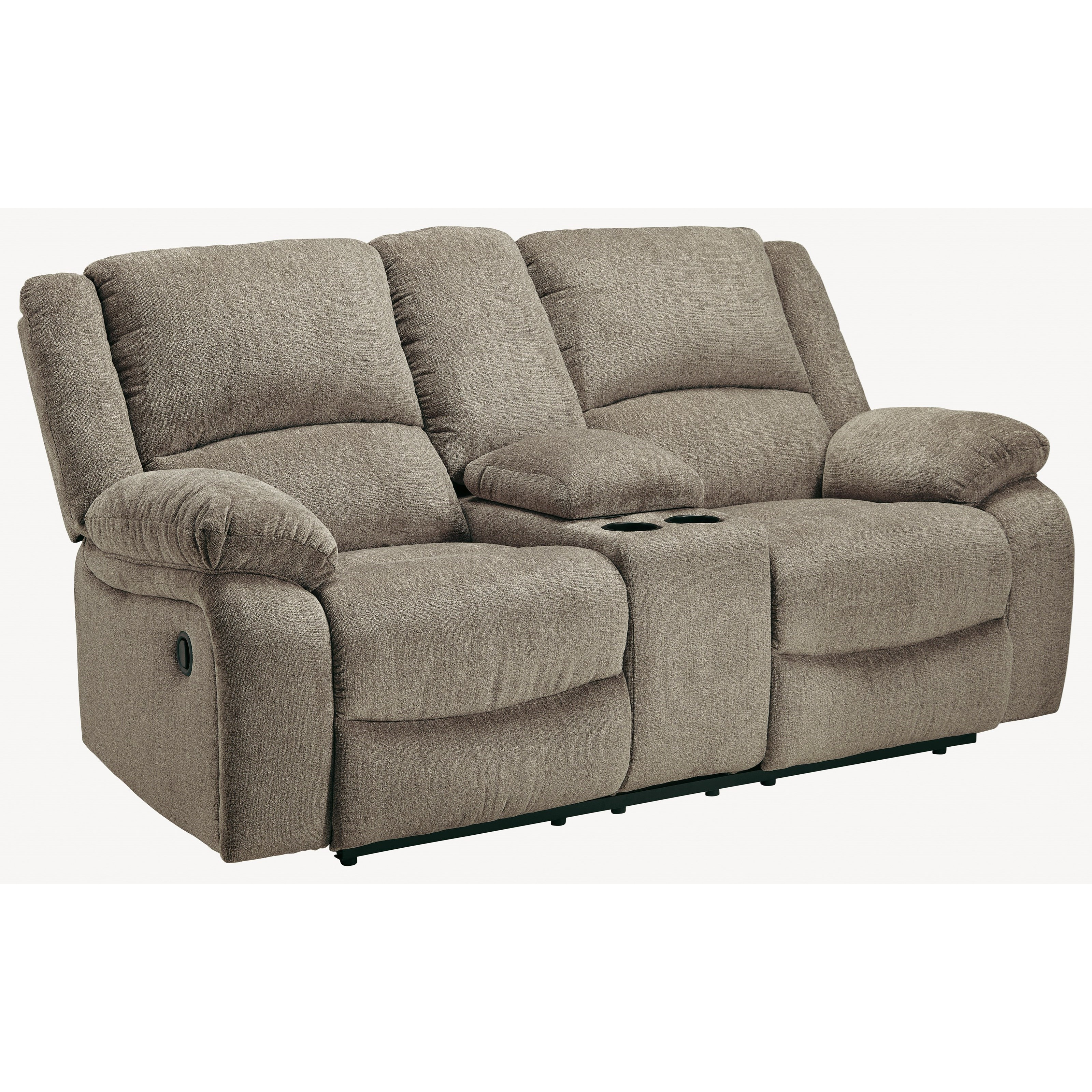 Draycoll Double Reclining Loveseat w/ Console by Signature Design by Ashley at Northeast Factory Direct