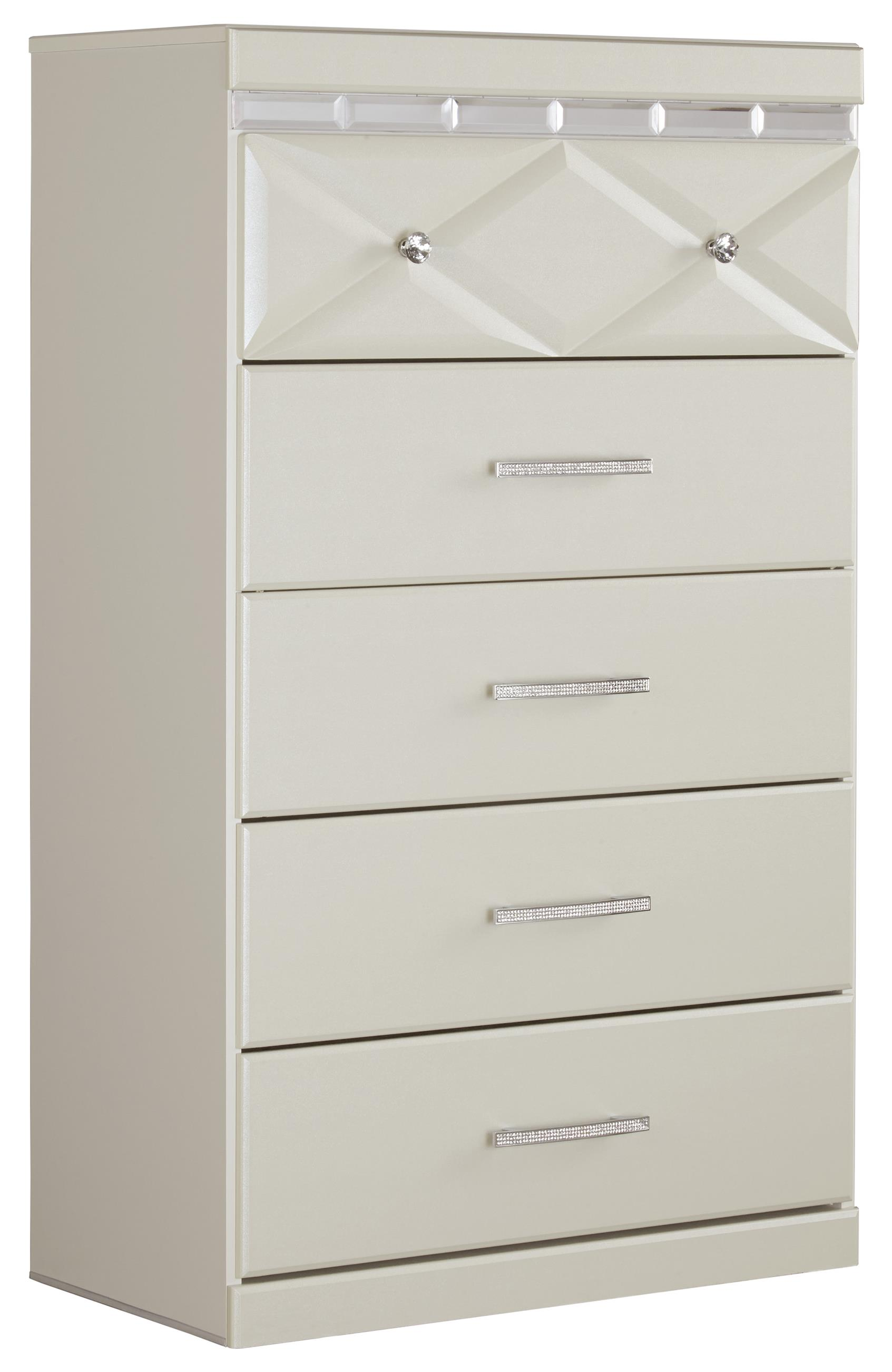 Dreamur Five Drawer Chest by Signature Design by Ashley at Northeast Factory Direct