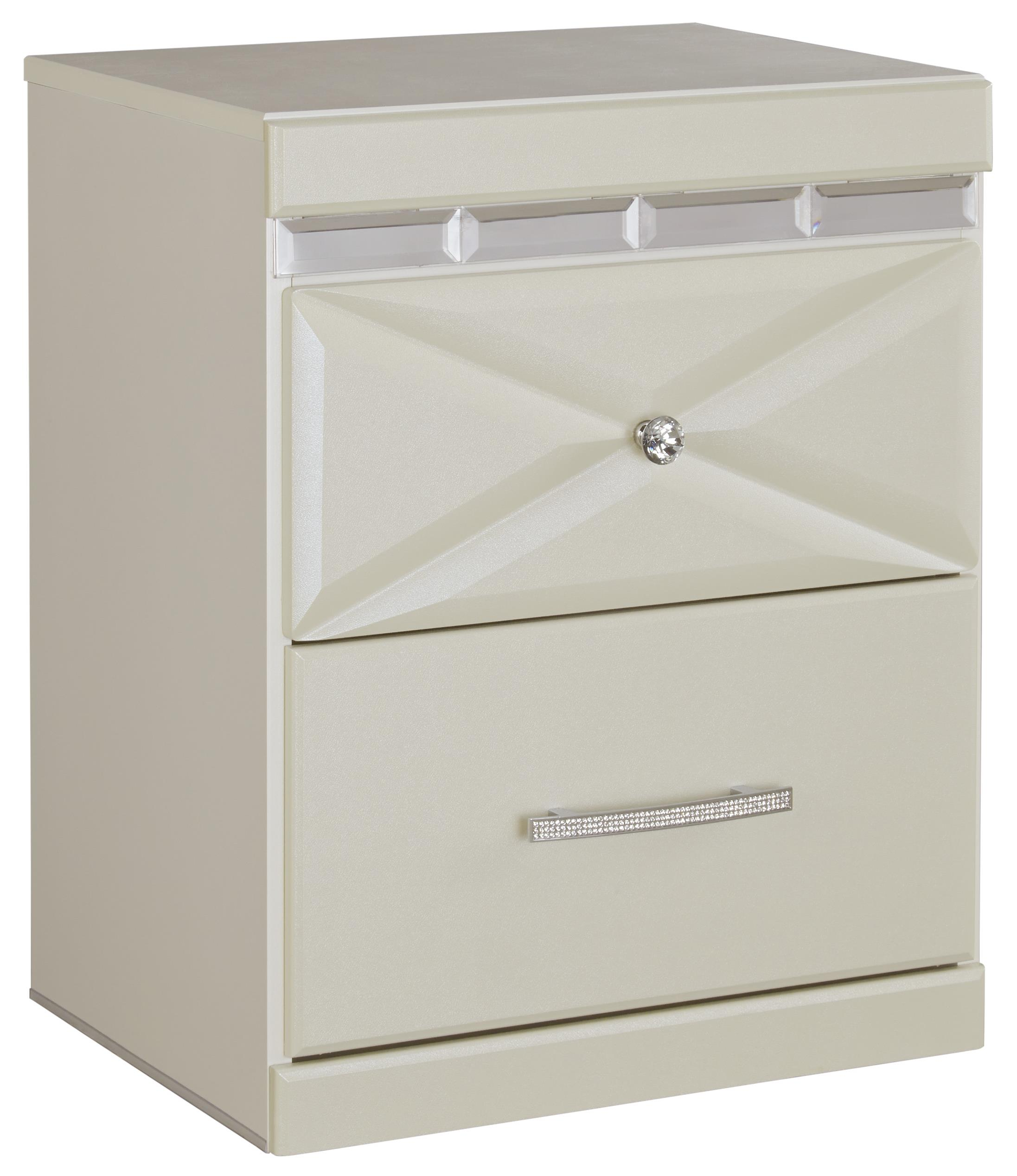 Dreamur Two Drawer Night Stand by Ashley (Signature Design) at Johnny Janosik