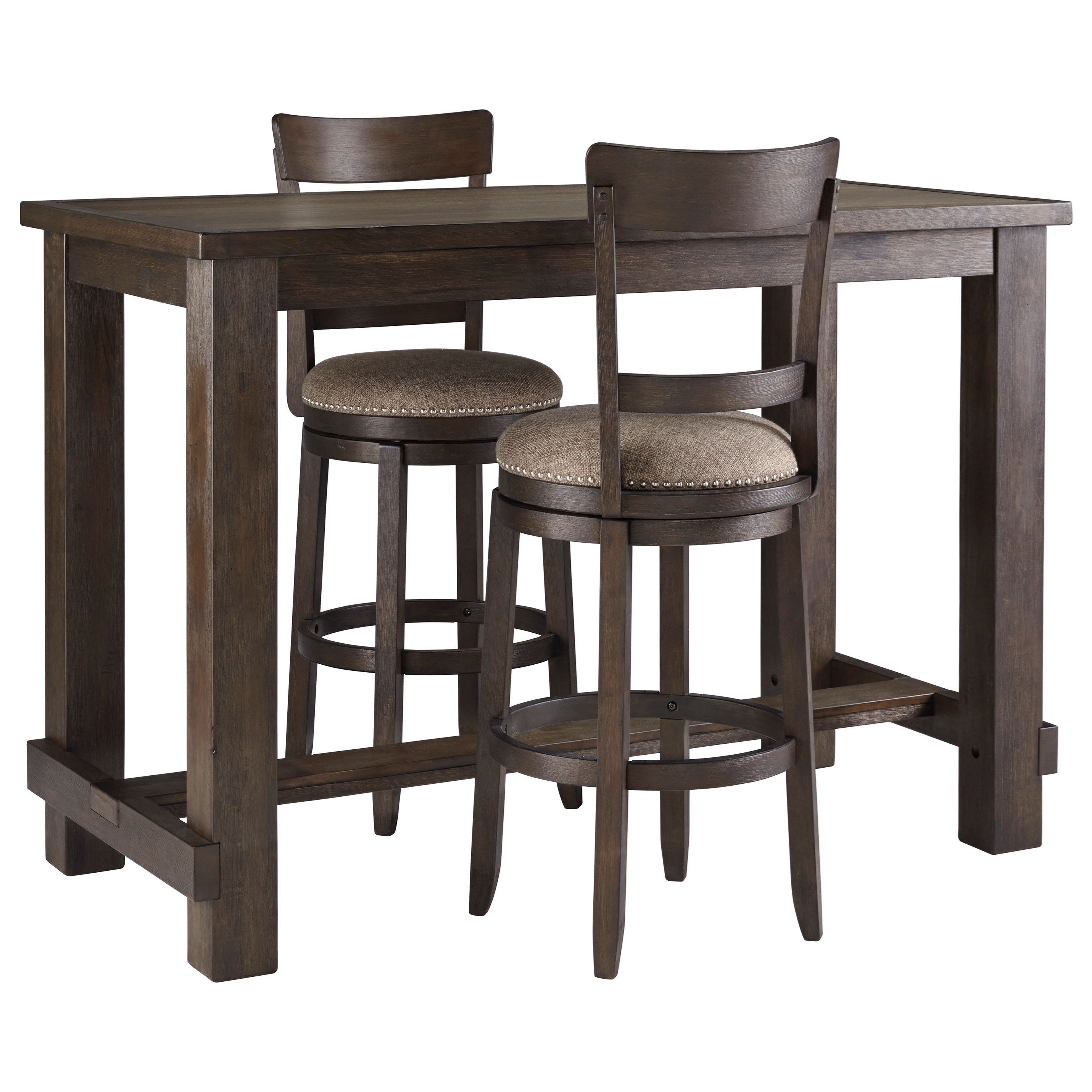 Drewing Three Piece Pub Table & Chair Set by Ashley (Signature Design) at Johnny Janosik