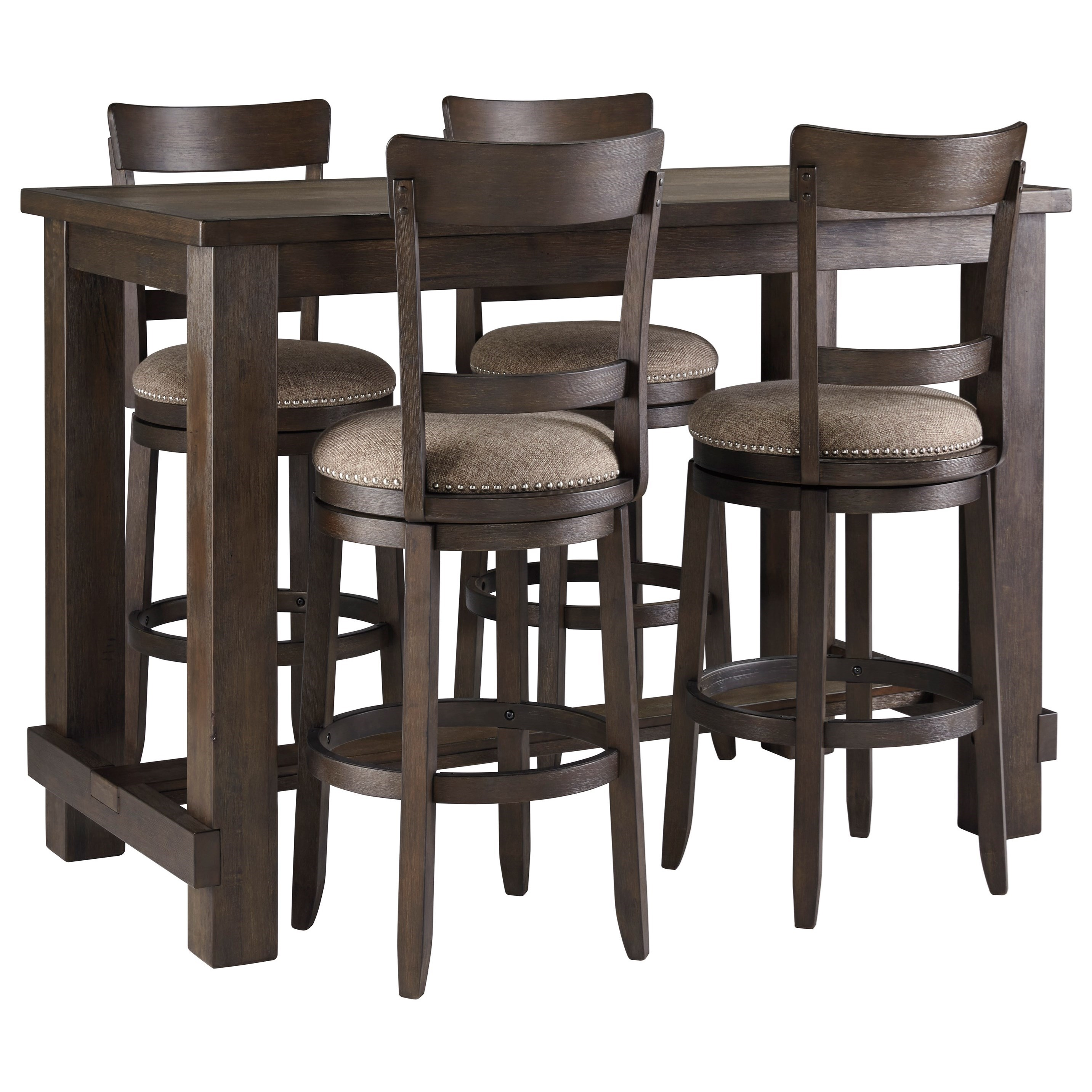 Drewing Five Piece Chair & Pub Table Set by Signature Design by Ashley at Darvin Furniture