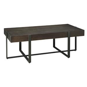 Rectangular Cocktail Table and Square End Table Set