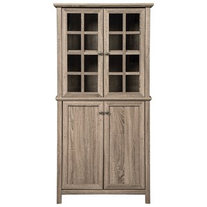 Tall Accent Cabinet with Glass Doors
