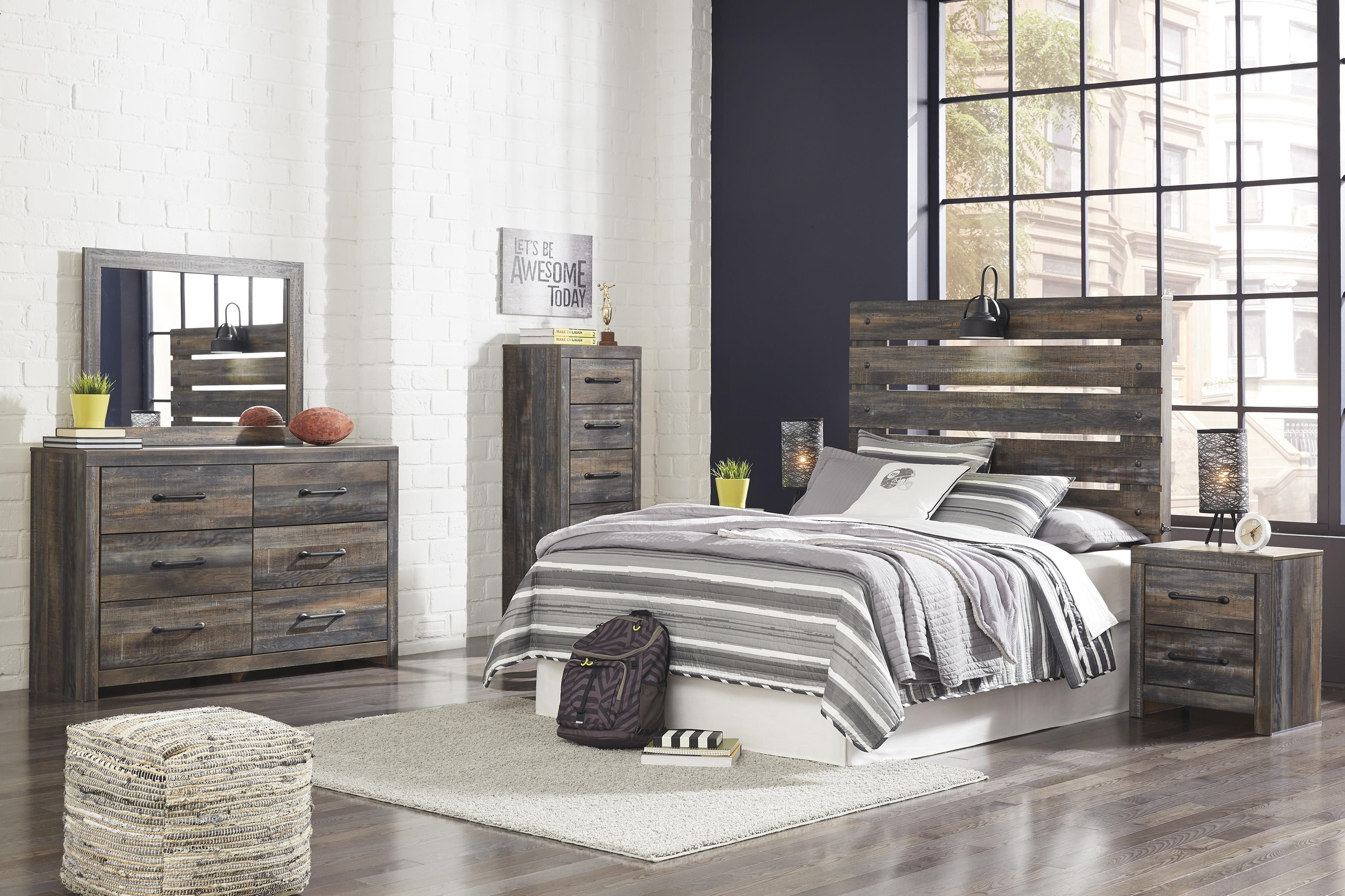 Drystan Queen Panel Bed Package by Signature Design by Ashley at Sam Levitz Furniture