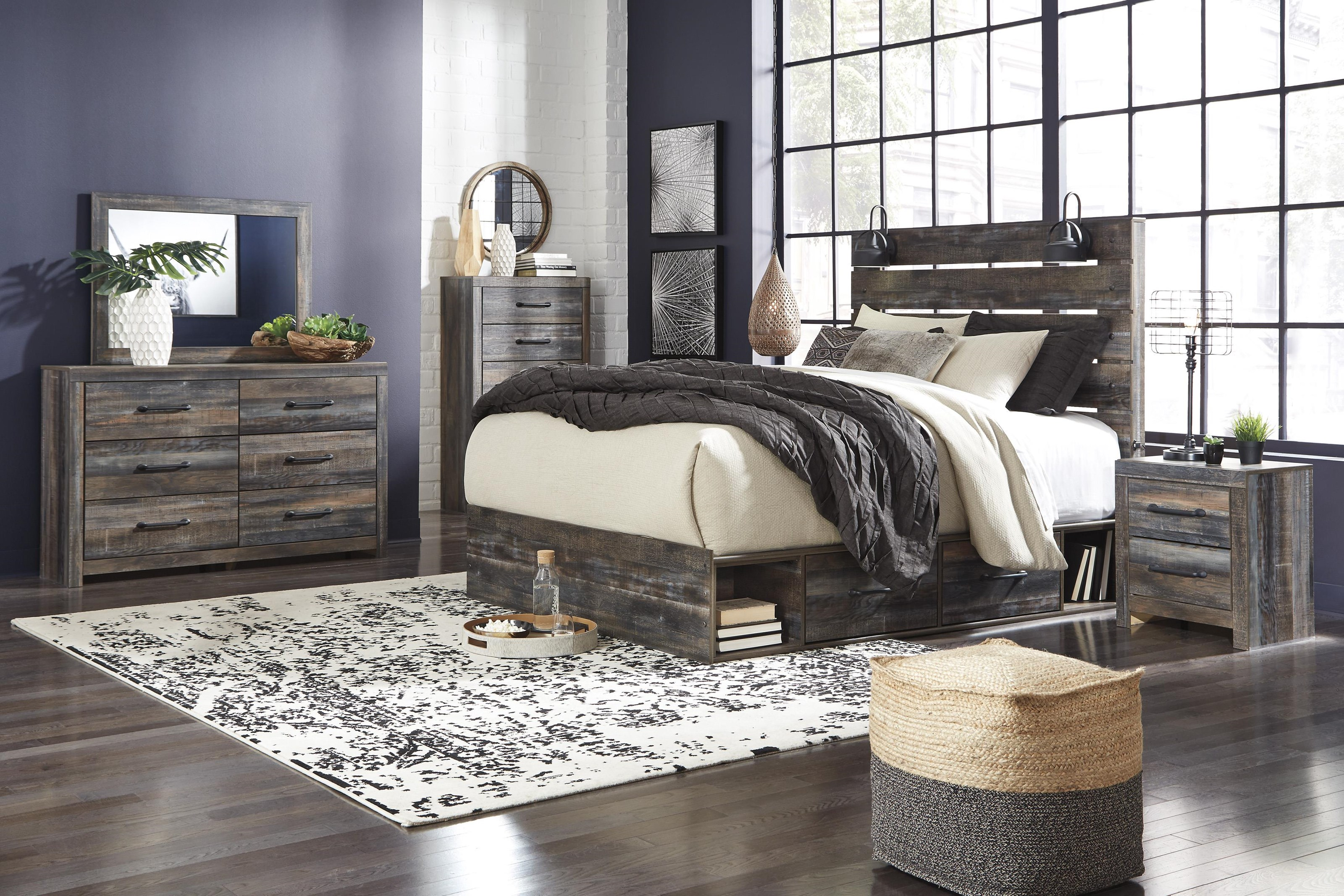 Drystan 6 Piece King Panel Bedroom Set by Signature Design by Ashley at Sam Levitz Furniture
