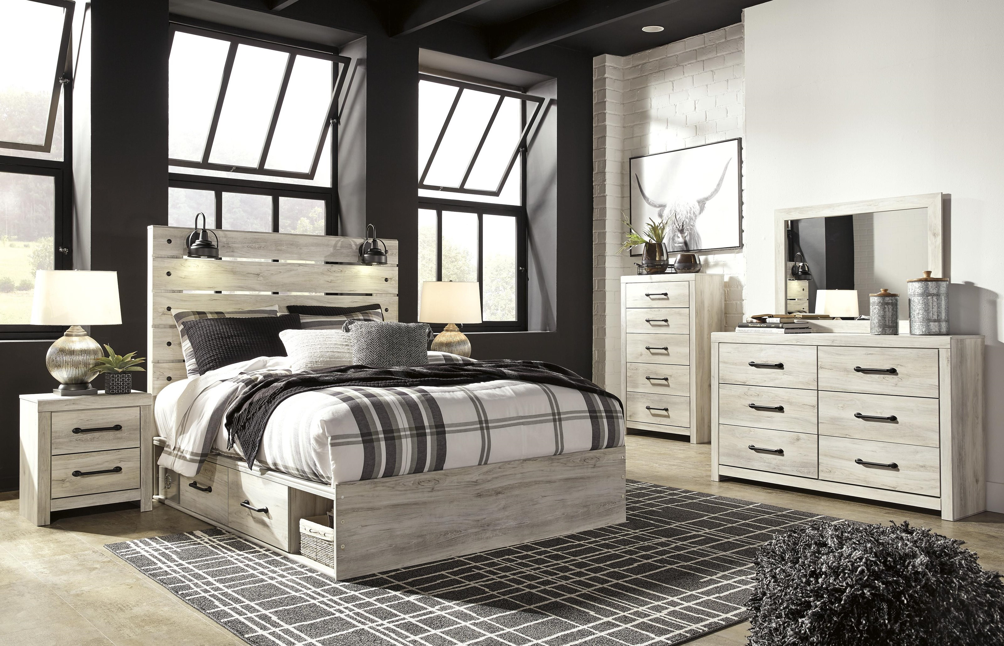 Cambeck 7 Piece King Panel Bedroom Set by Signature Design by Ashley at Sam Levitz Outlet