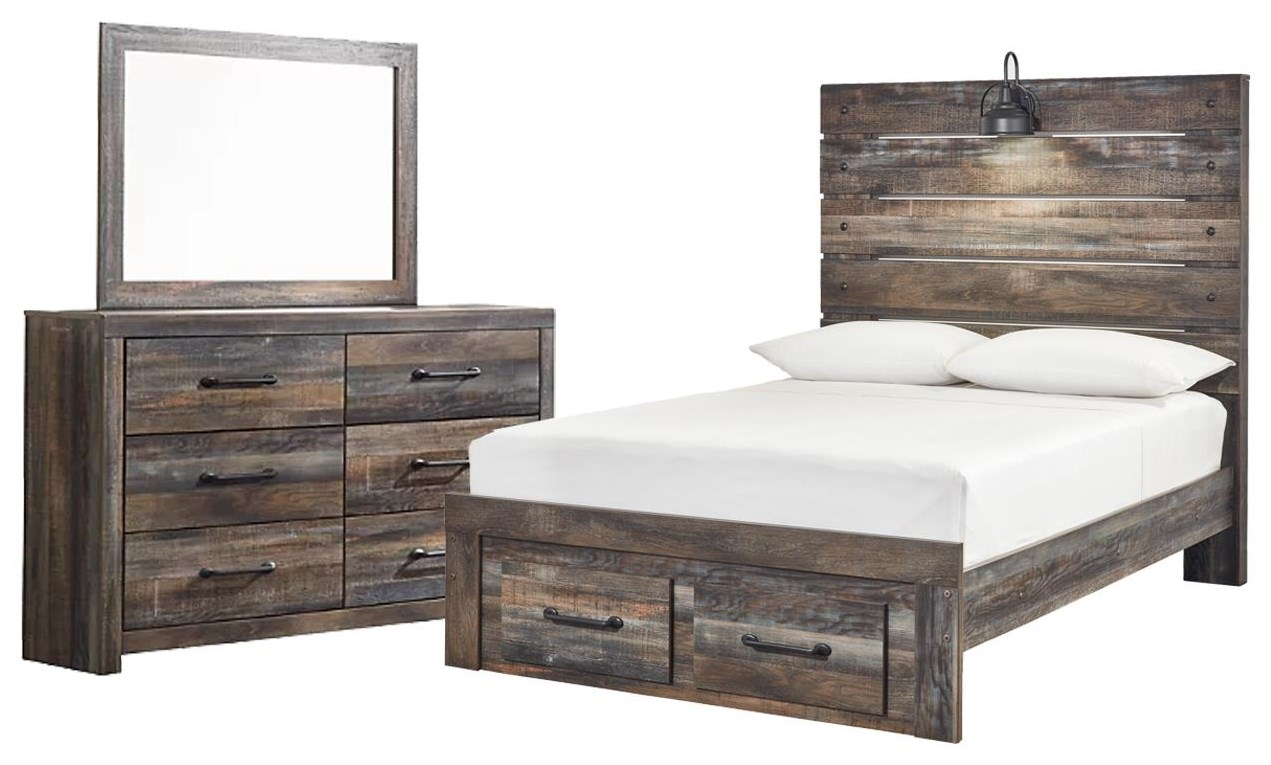 Drystan Full Panel Bed, Dresser and Mirror by Ashley (Signature Design) at Johnny Janosik