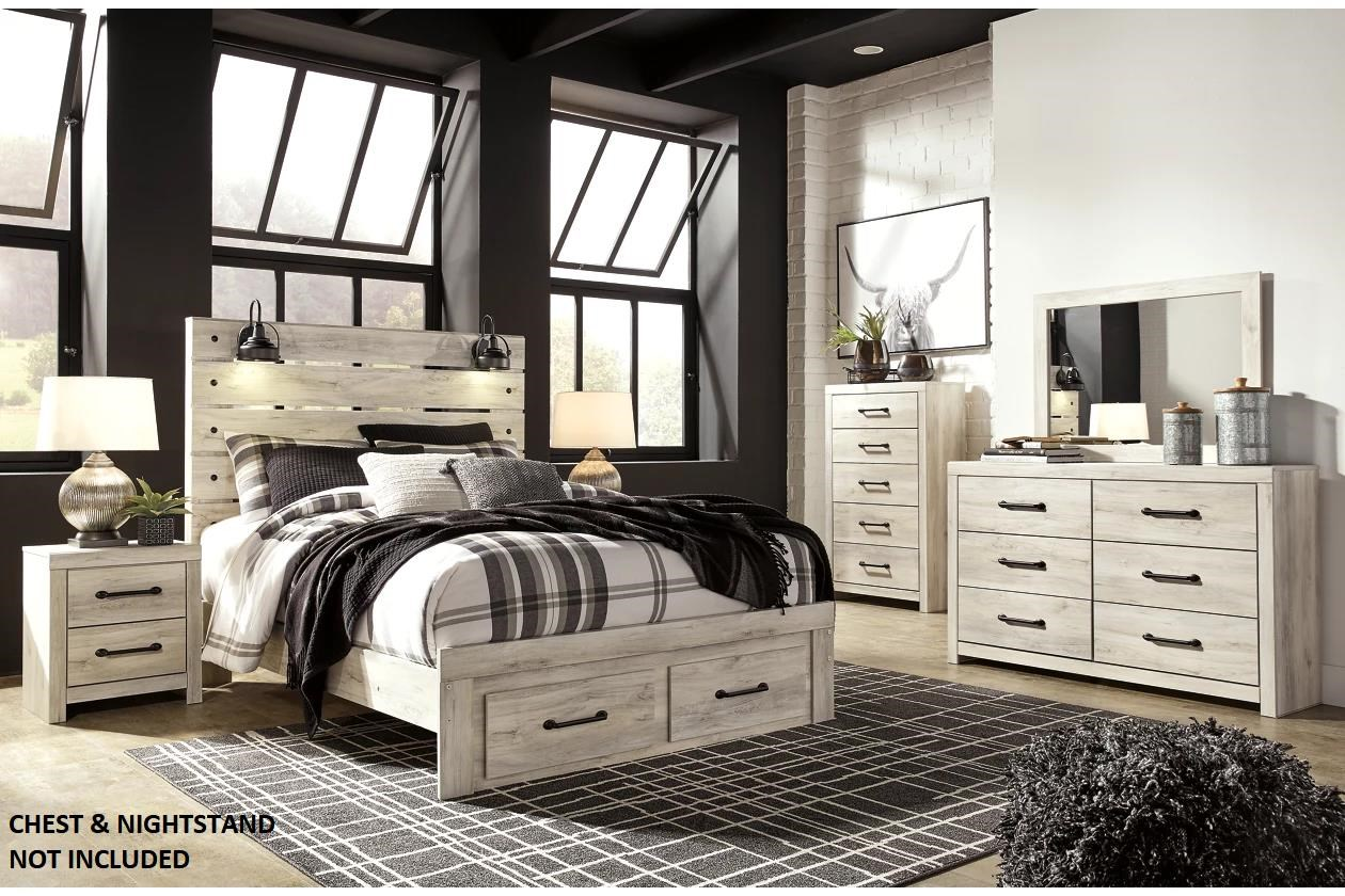 Cambeck Queen Storage Bedroom, Dresser and Mirror by Ashley (Signature Design) at Johnny Janosik