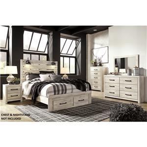 Queen Storage Bedroom, Dresser and Mirror