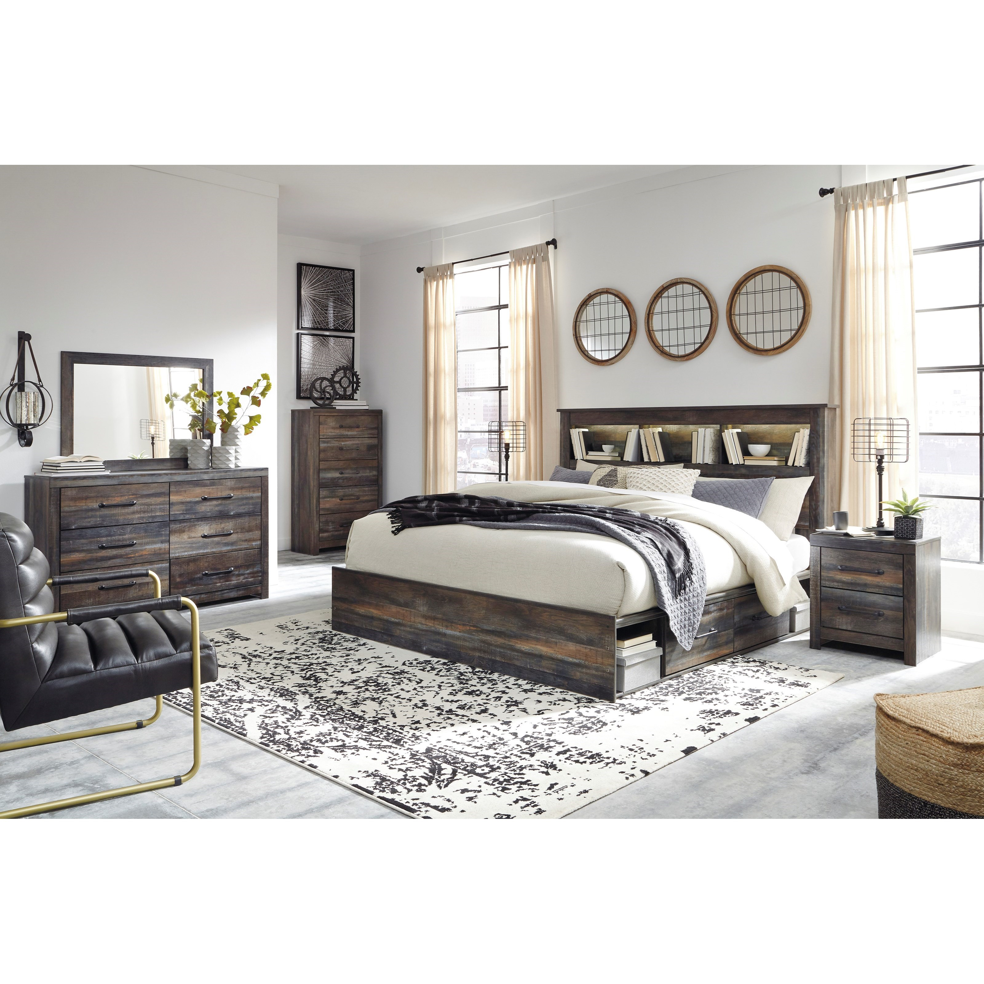 Drystan King Bedroom Group by Signature Design by Ashley at Furniture Barn