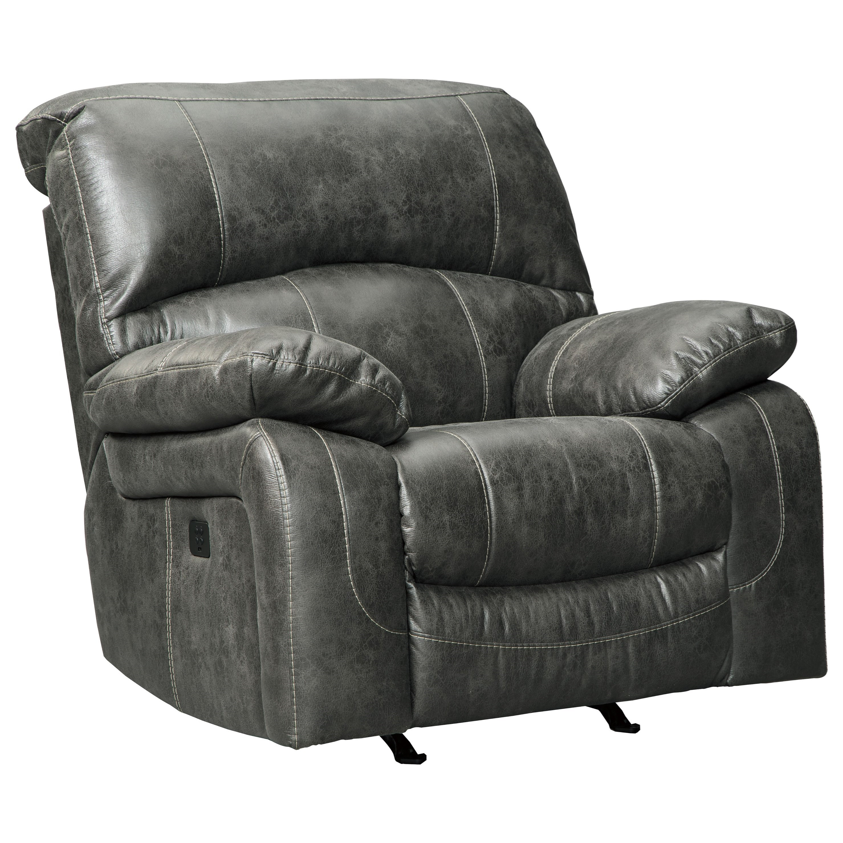 Dunwell Power Rocker Recliner w/ Adjustable Headrest by Signature Design by Ashley at Factory Direct Furniture