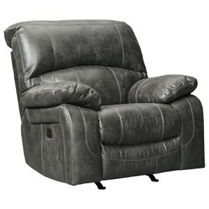 Faux Leather Power Rocker Recliner w/ Adjustable Headrest