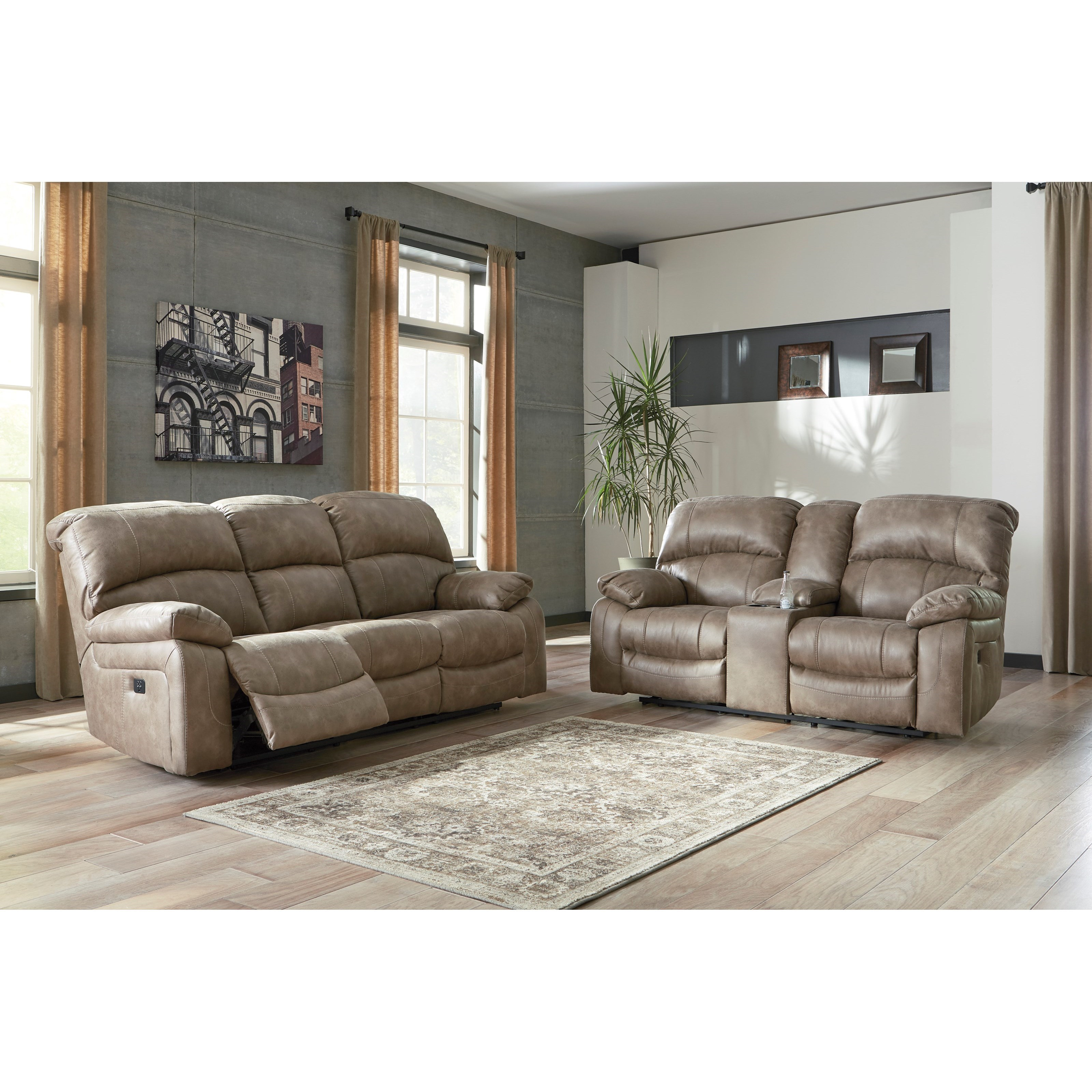 Dunwell Reclining Living Room Group by Signature Design by Ashley at Zak's Warehouse Clearance Center