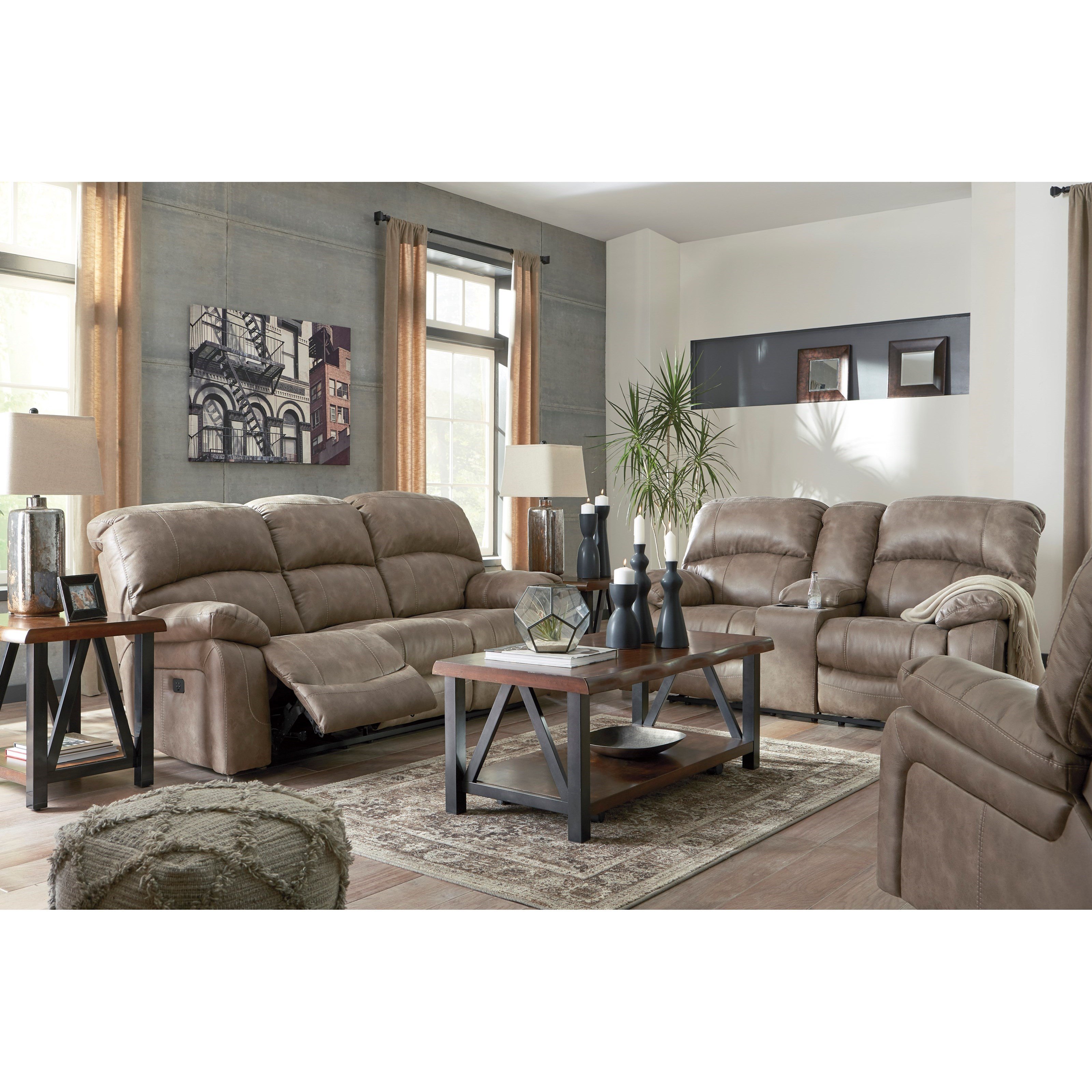 Dunwell Reclining Living Room Group by Ashley (Signature Design) at Johnny Janosik
