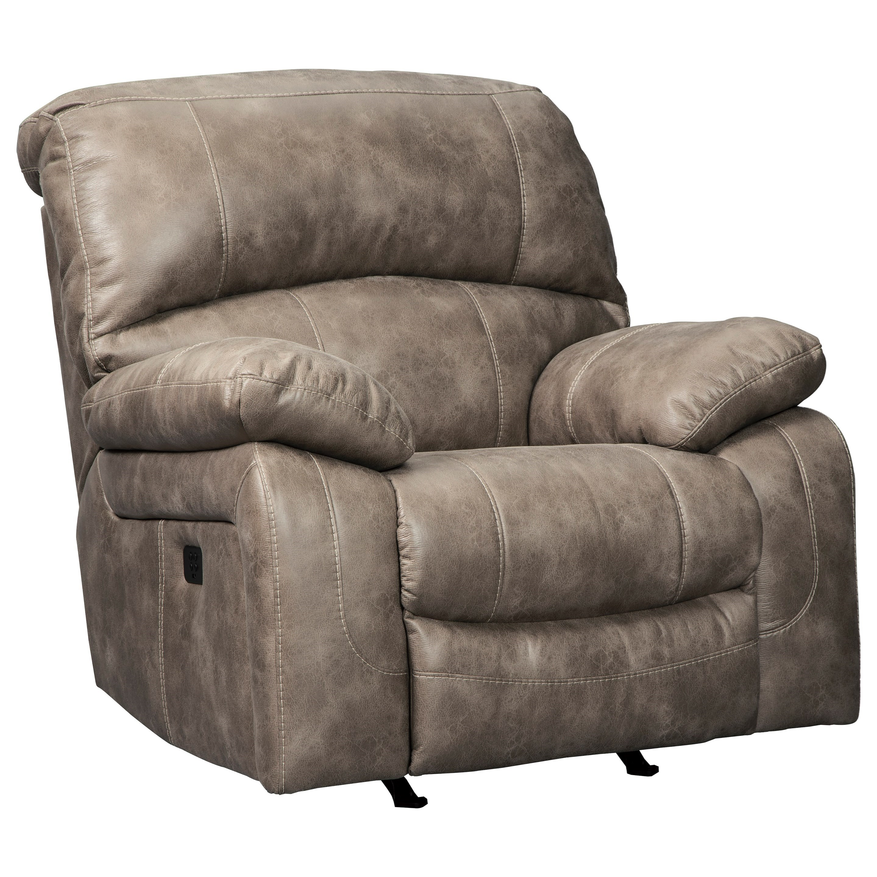 Dunwell Power Rocker Recliner w/ Adjustable Headrest by Signature Design by Ashley at Northeast Factory Direct