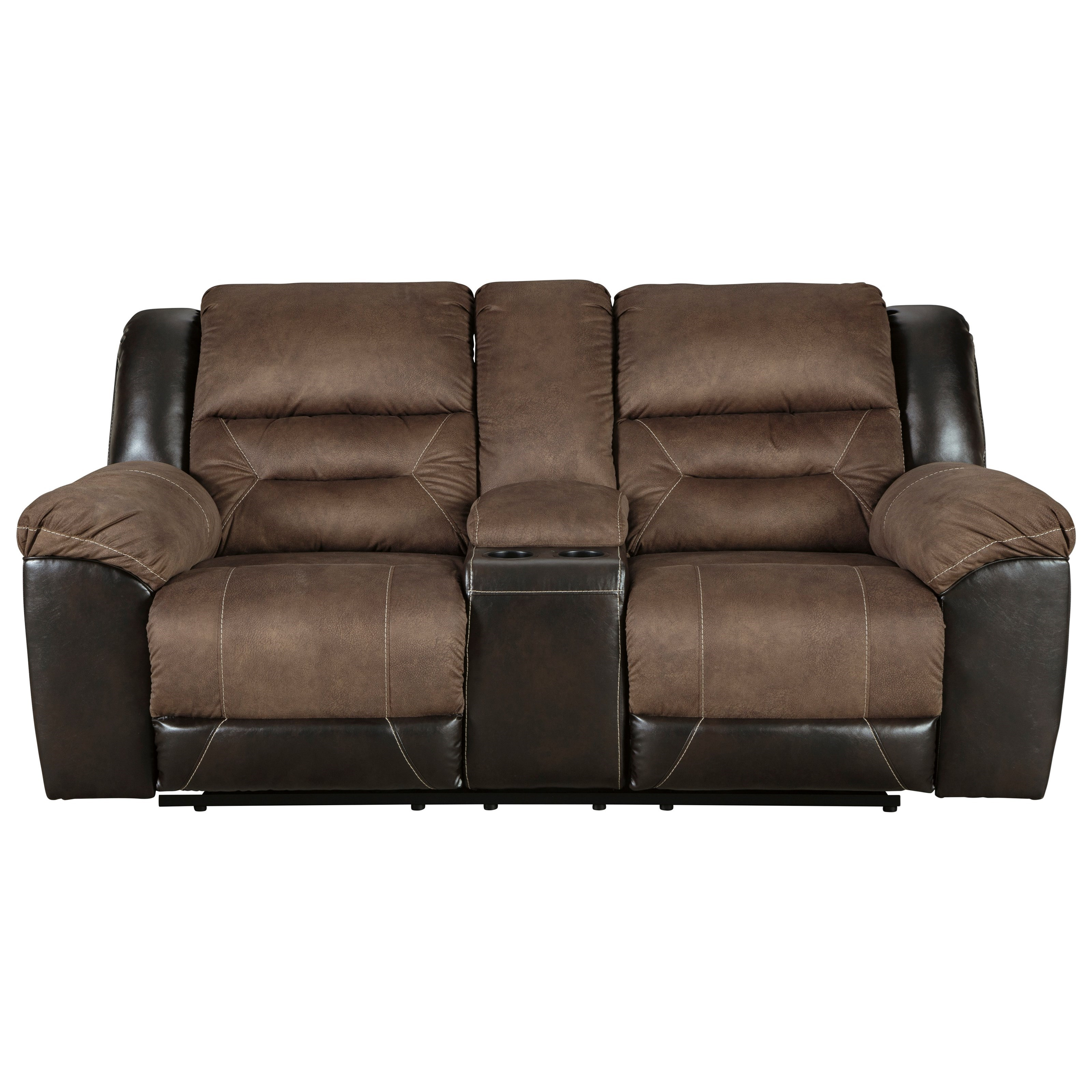 Earhart Reclining Loveseat with Console by Ashley (Signature Design) at Johnny Janosik