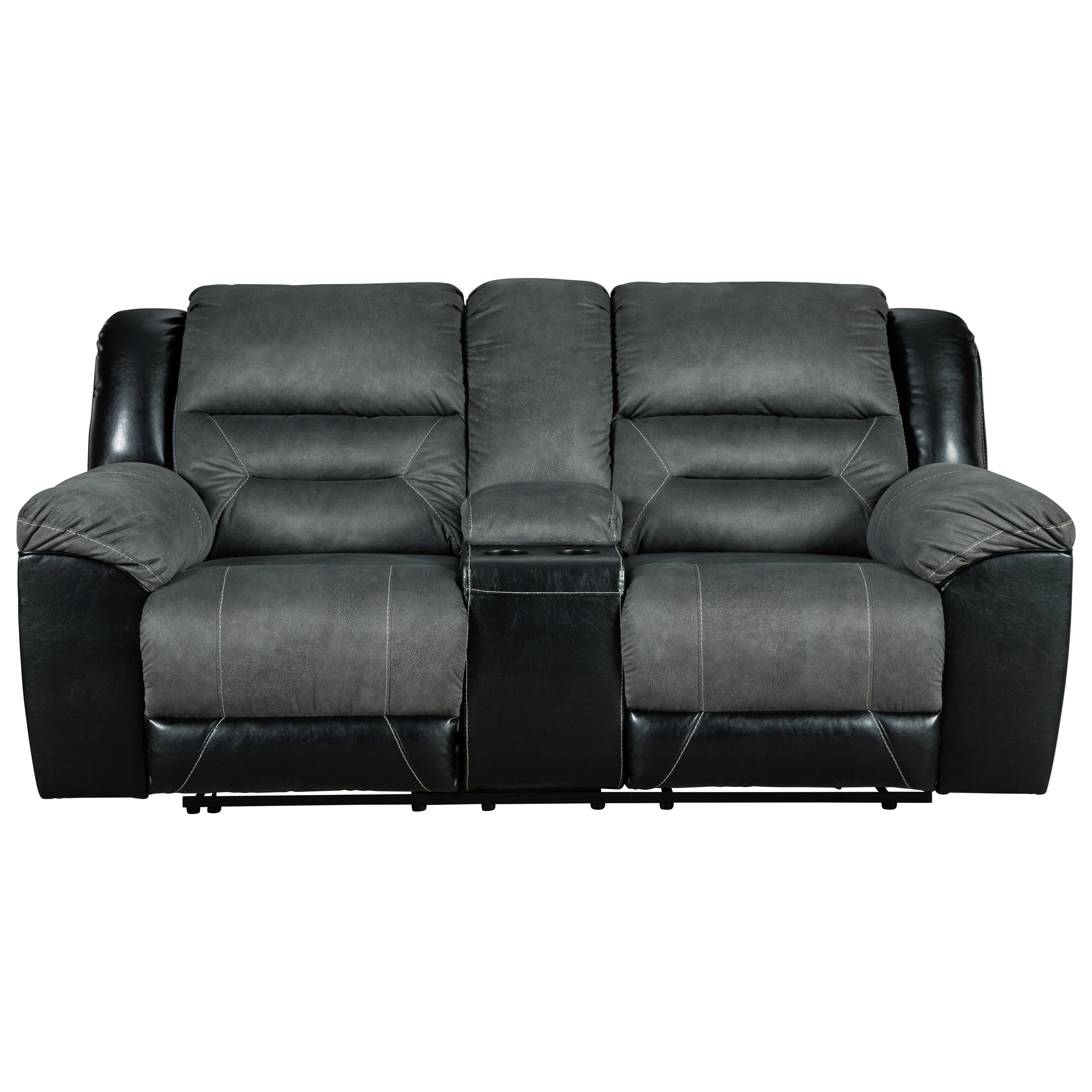 Earhart Reclining Loveseat with Console by Signature Design by Ashley at Houston's Yuma Furniture