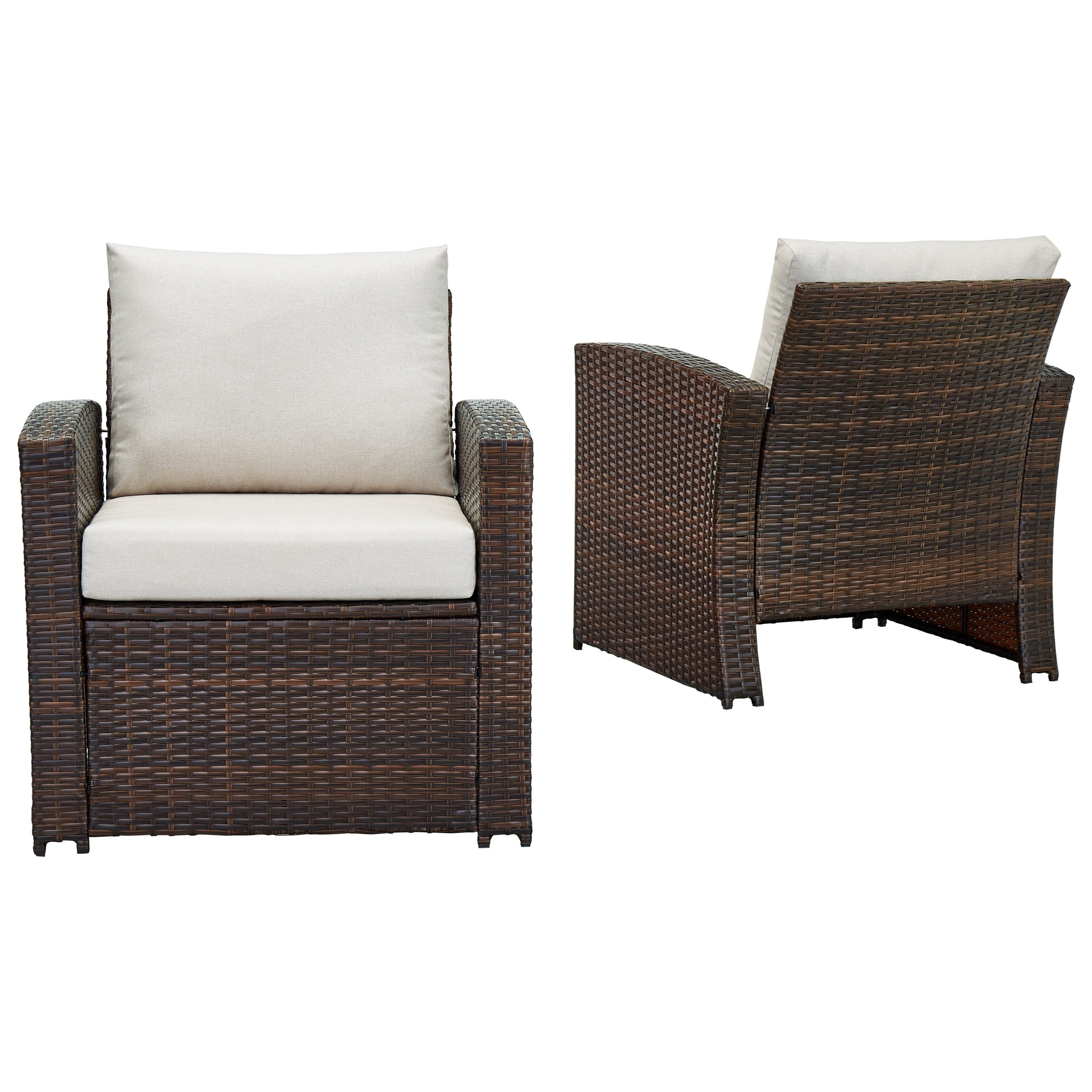 East Brook Set of 2 Lounge Chairs w/ Cushion by Signature Design by Ashley at Zak's Warehouse Clearance Center