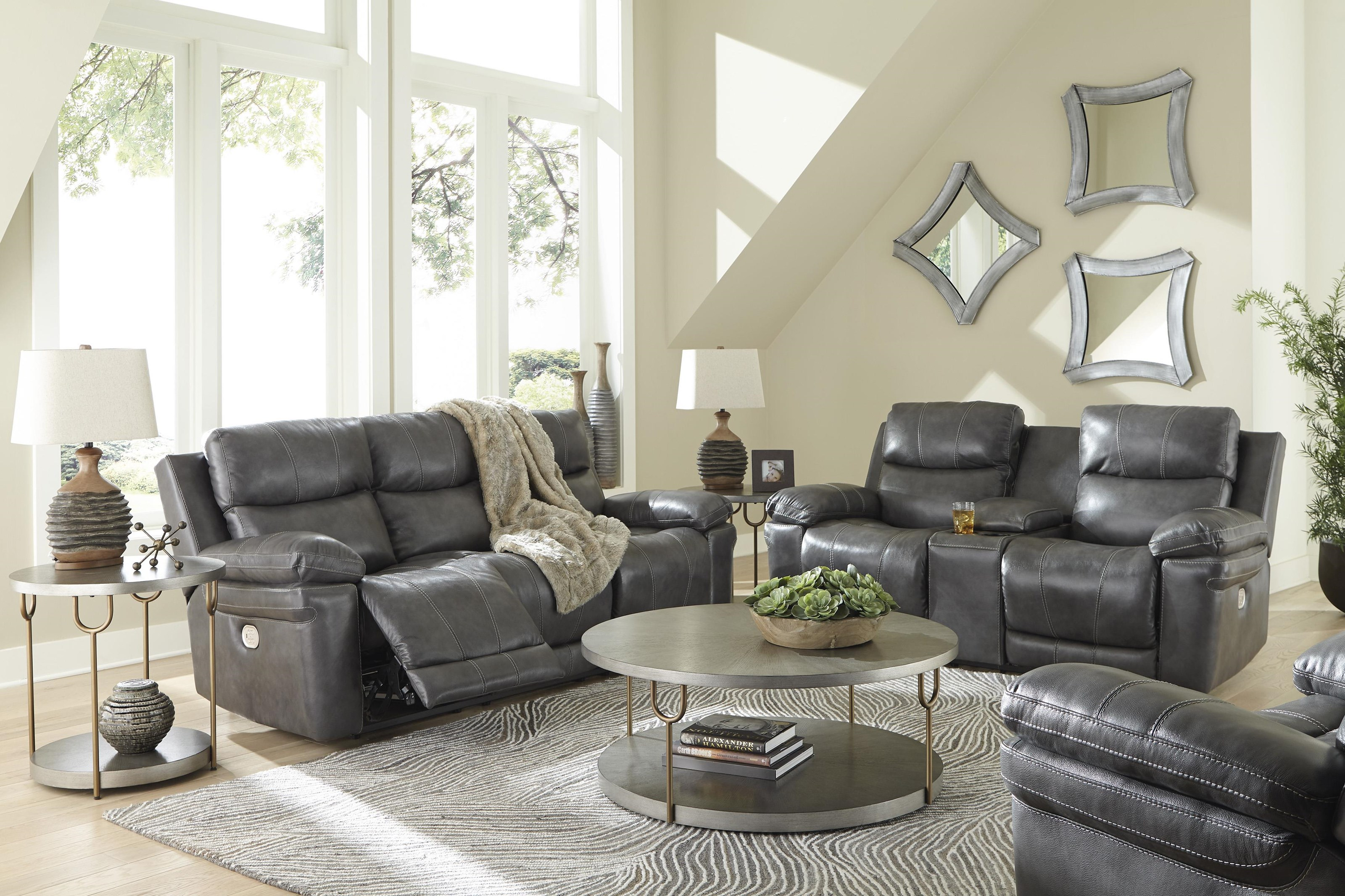 Edmar 2 Piece Power Reclining Living Room Set by Signature Design by Ashley at Sam Levitz Furniture