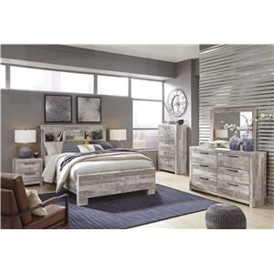 King Panel Bed, Dresser, Mirror, Nightstand and Chest Package