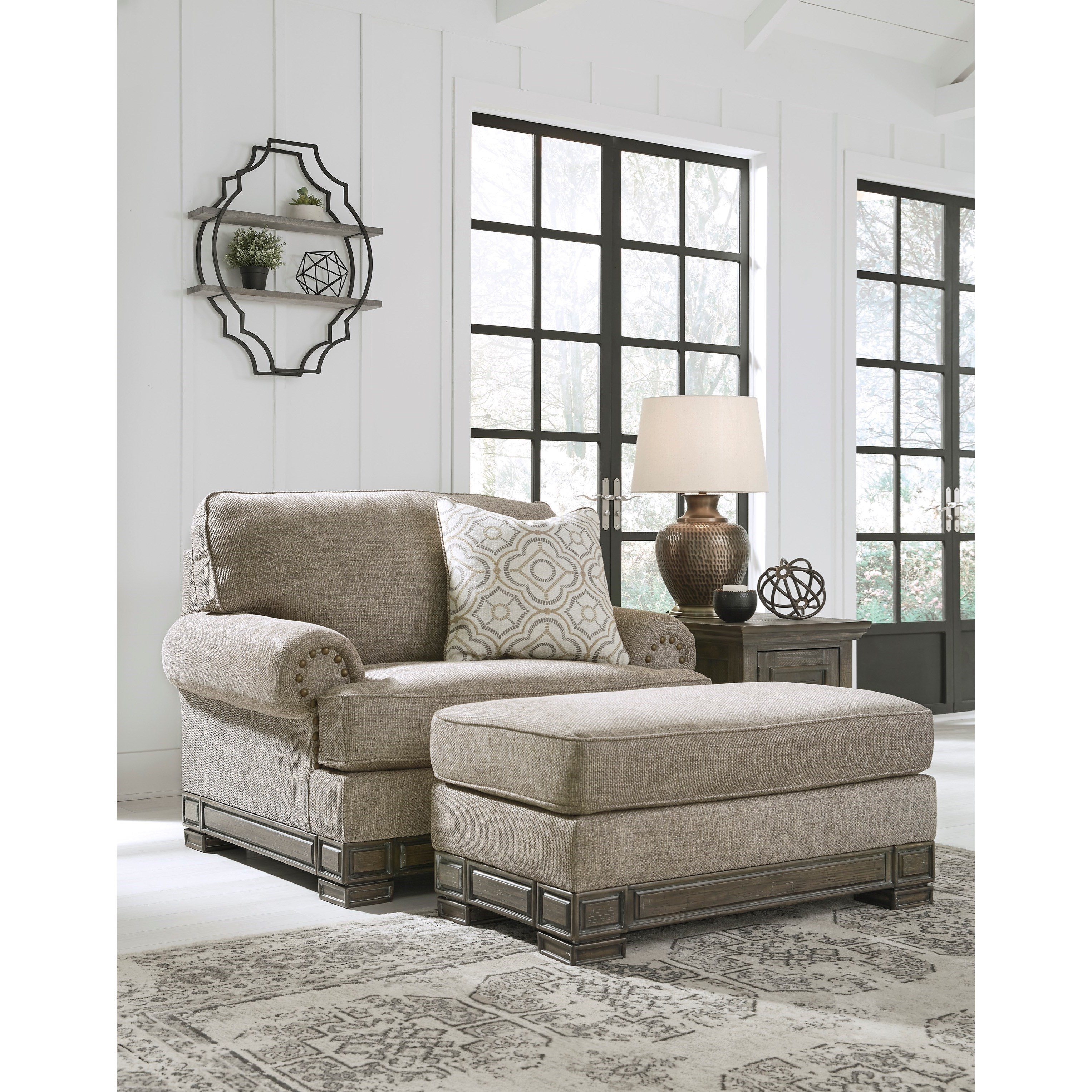 Einsgrove Chair and a Half with Ottoman by Signature at Walker's Furniture