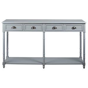 Console Sofa Table with 4 Drawers and 1 Shelf