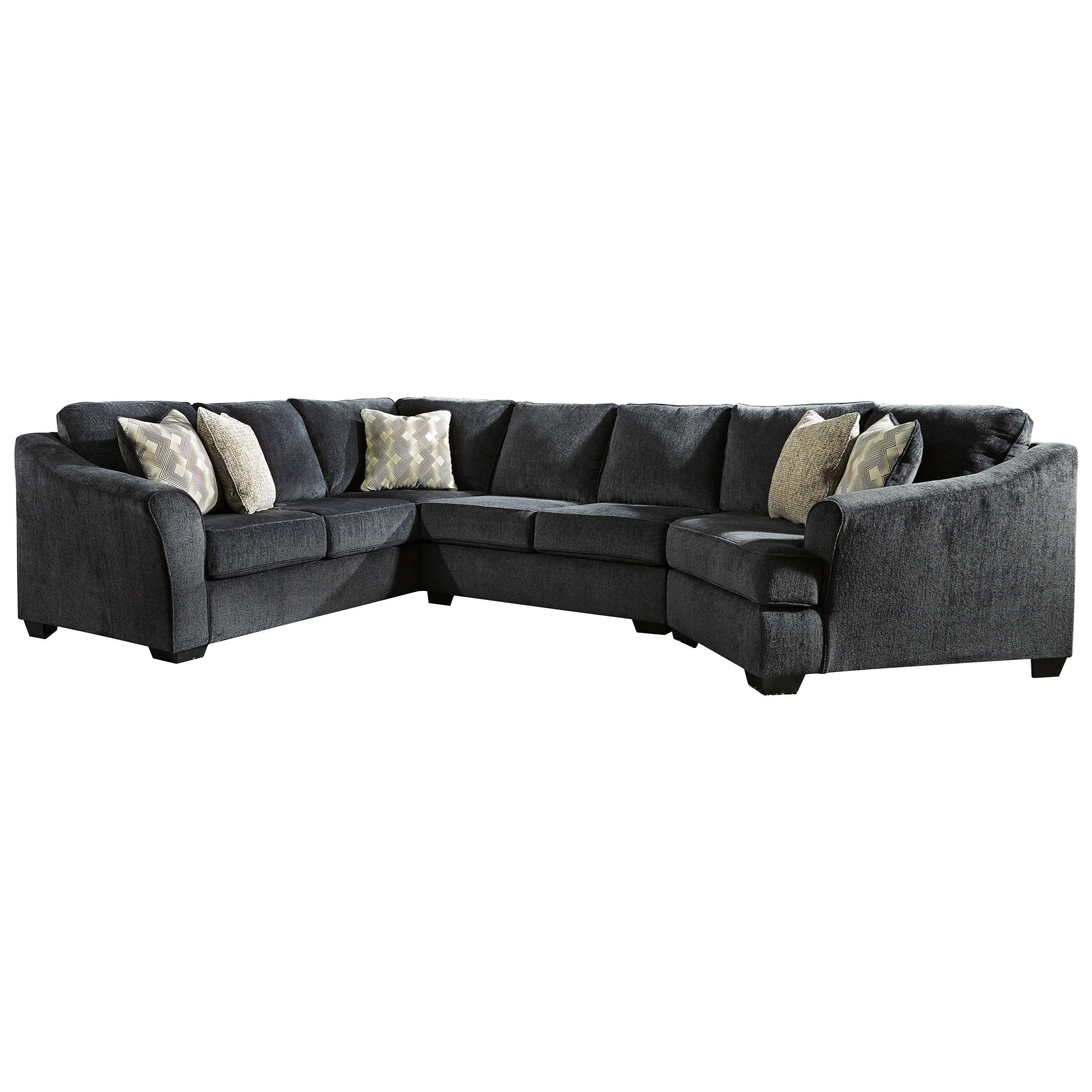 Eltmann 3-Piece Sectional with Right Cuddler by Ashley (Signature Design) at Johnny Janosik