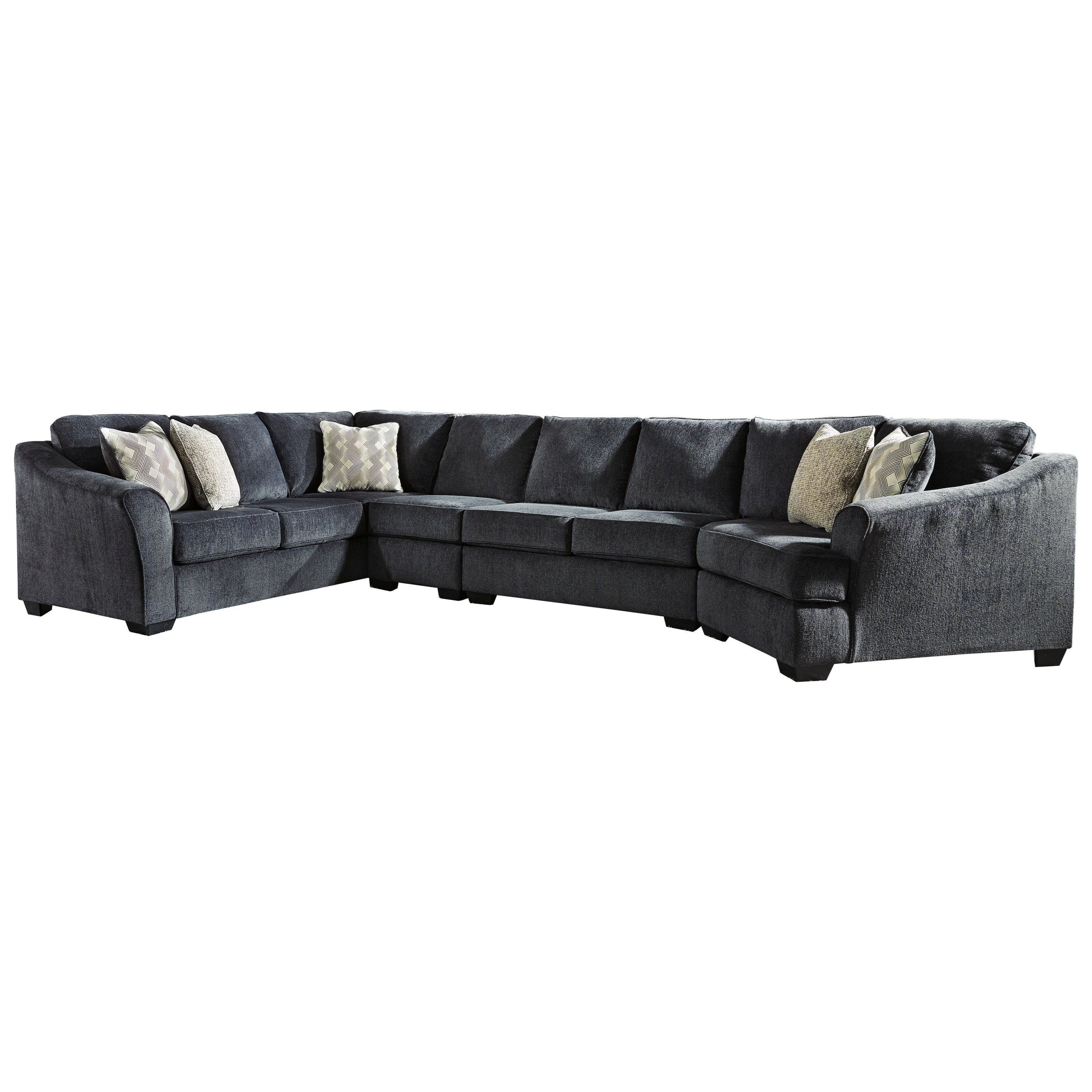 Eltmann 4-Piece Sectional with Right Cuddler by Signature Design by Ashley at Zak's Warehouse Clearance Center