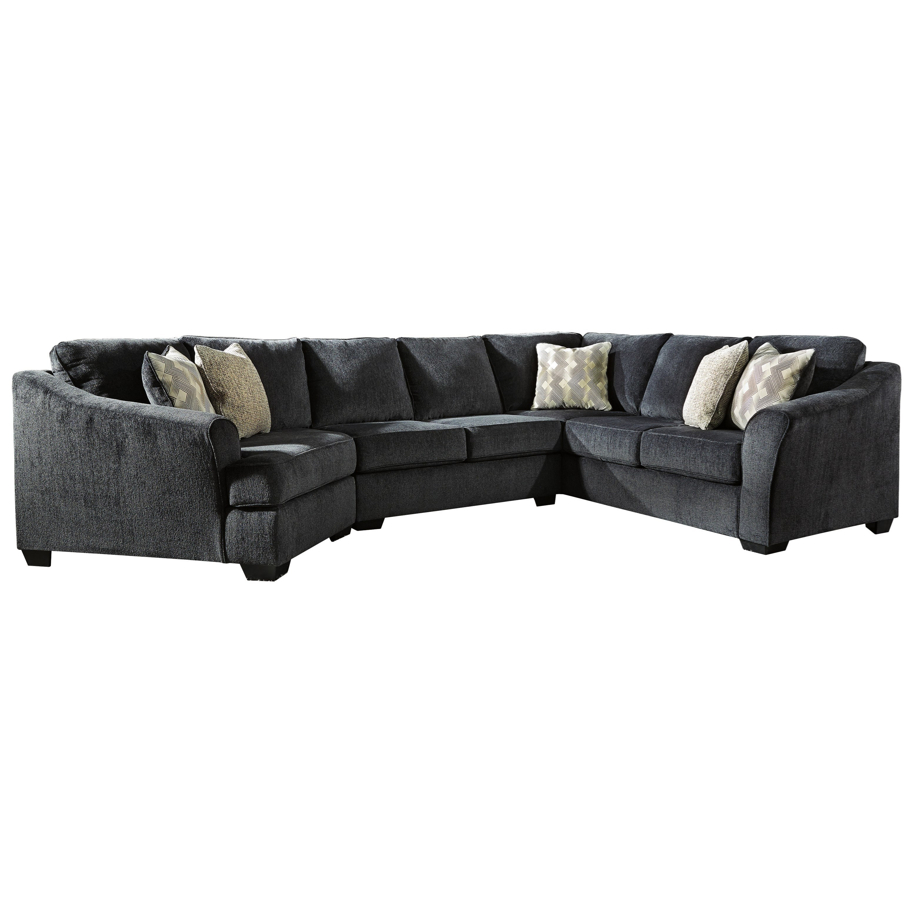 Eltmann 3-Piece Sectional with Left Cuddler by Ashley (Signature Design) at Johnny Janosik