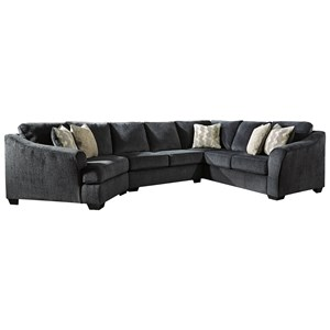 3-Piece Sectional with Left Cuddler