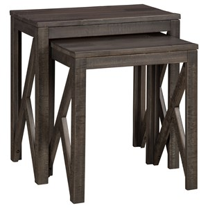 Set of 2 Rustic Nesting Tables