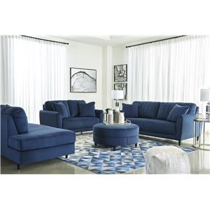 Ink Sofa, RFA Chaise and Accent Ottoman Set