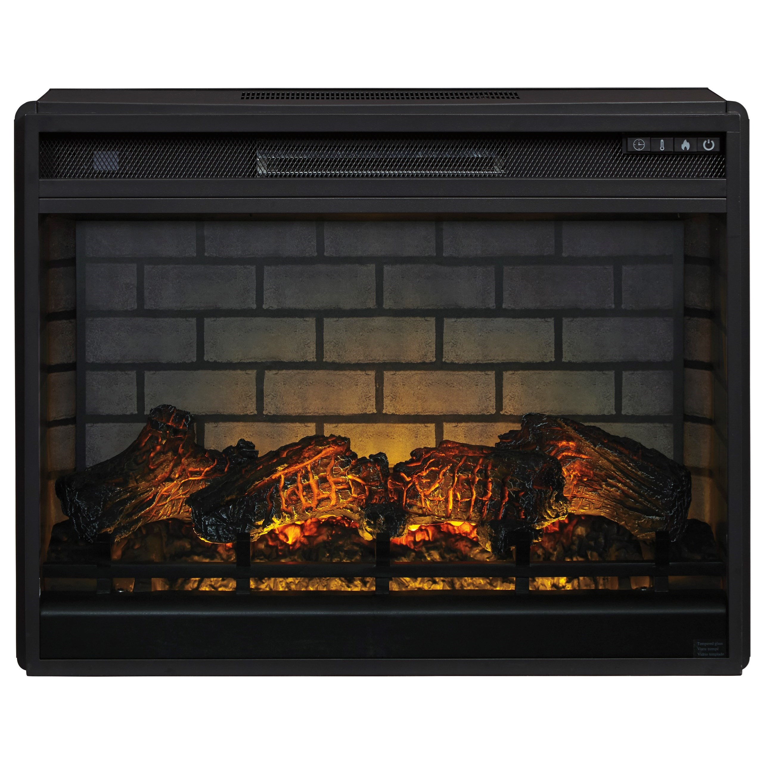 Entertainment Accessories Large Fireplace Insert by Ashley (Signature Design) at Johnny Janosik