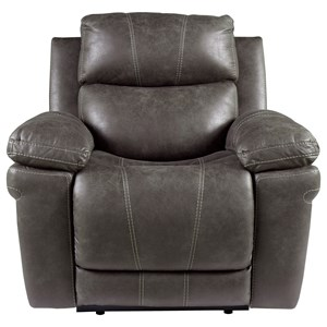 Casual Power Recliner with Adjustable Headrest