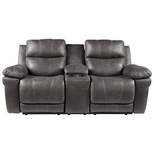 Power Reclining Loveseat with Power Headrest and Center Console