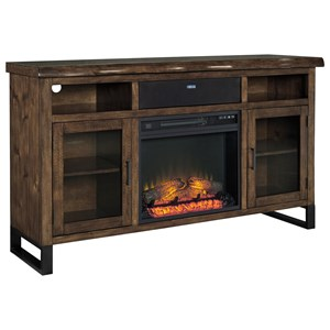 Signature Design by Ashley Esmarina TV Stand w/ Fireplace & Bluetooth Speaker