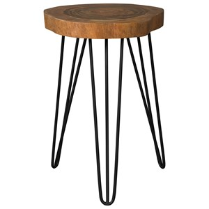 Solid Wood Accent Table with Hairpin Legs