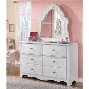 Dresser & Ornate Bedroom Mirror