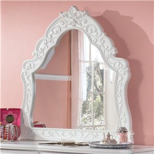 Ornate Arched Bedroom Mirror