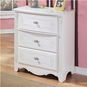 Signature Design by Ashley Exquisite 3-Drawer Chest