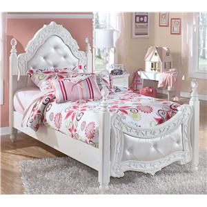 Signature Design by Ashley Exquisite Twin Poster Bed