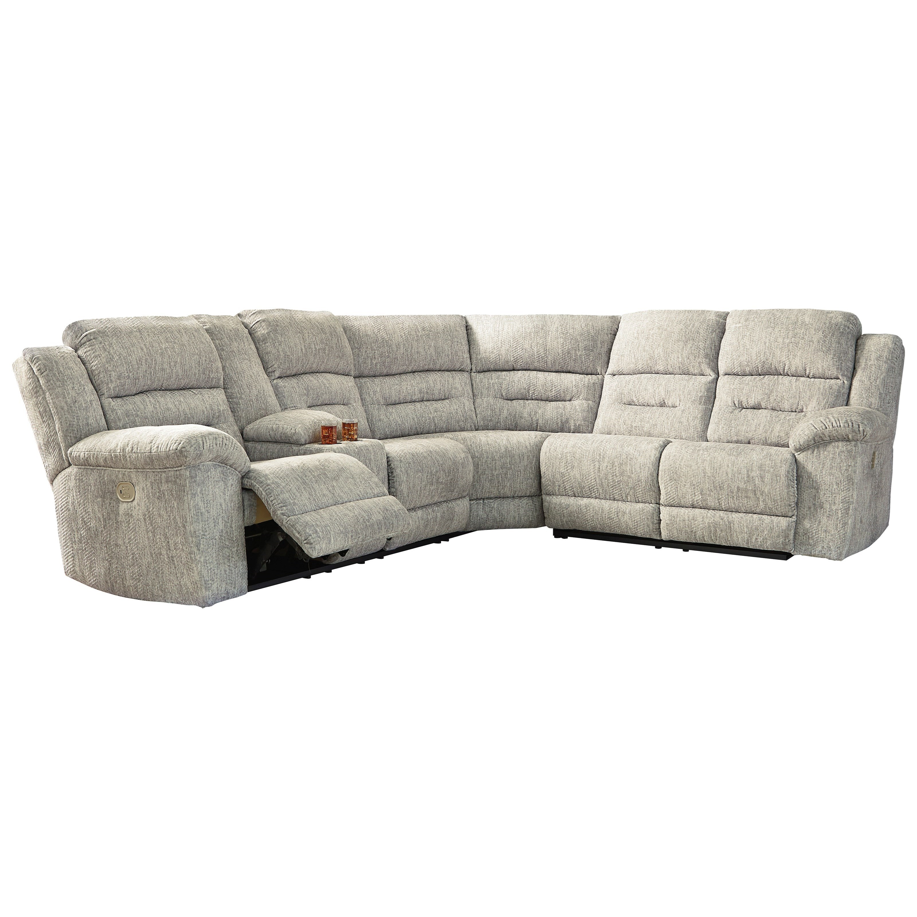Family Den Power Reclining Sectional by Signature Design by Ashley at Zak's Warehouse Clearance Center