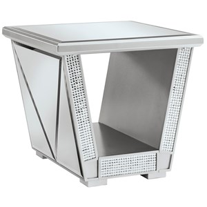 Glam Square End Table