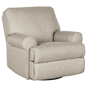 Casual Swivel Glider Recliner with Hidden Recline Handle