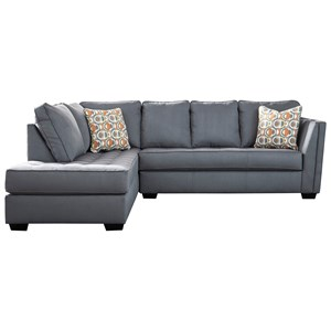 Contemporary Sectional Sofa with Chaise and Cushion Tufting