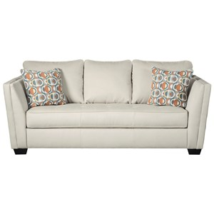 Contemporary Sofa with Seat Cushion Tufting